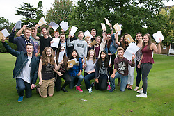 © Licensed to London News Pictures. 20/08/2015. Solihull, West Midlands, UK. GCSE results day at Solihull School. Students celebrate their results. Photo credit : Dave Warren/LNP