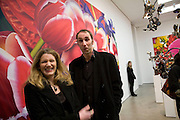 DEBORAH ORR AND WILL SELF, 'Evolution', an exhibition of work by Marc Quinn. White Cube. Masoin's Yard. London. 24 January 2008. -DO NOT ARCHIVE-© Copyright Photograph by Dafydd Jones. 248 Clapham Rd. London SW9 0PZ. Tel 0207 820 0771. www.dafjones.com.