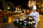 The Oriental Hotel. Barbecue at the river terrace.