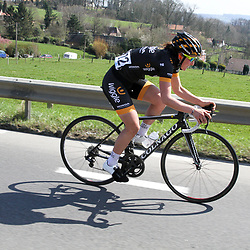 05-04-2015: Wielrennen: Ronde van Vlaanderen vrouwen: Belgie<br /> OUDENAARDE (BEL) cycling<br /> The 3th race in the UCI womens World Cup is the 12th edition of the Ronde van Vlaanderen. The race distance is 145 km with 12 Climbs and 5 zones of Cobbles.<br /> Elisa Longo Borghini in her winning solo on the Hotond
