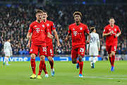 Bayern Munich defender Joshua Kimmich (32) celebrates after scoring a goal (1-1) during the Champions League match between Tottenham Hotspur and Bayern Munich at Tottenham Hotspur Stadium, London, United Kingdom on 1 October 2019.