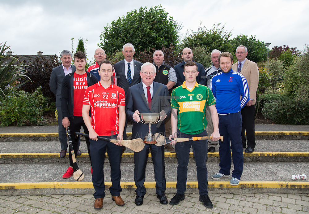 05.10.2016       <br /> Cappamore and Monaleen will battle it out in the 2017 LIT Premier Intermediate Hurling Championship Final this Saturday in Kilmallock at 15:45. <br /> LIT President, Vincent Cunnane joined Monaleen Captain Peter Russell and Cappamore's Patrick Doyle at LIT Moylish Campus ahead of the encounter. Picture: Alan Place
