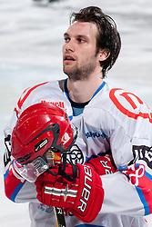 Marjan Manfreda (HK Acroni Jesenice, #18) during ice-hockey match between HDD Tilia Olimpija and HK Acroni Jesenice in second game of Final at Slovenian National League, on April 3, 2011 at Hala Tivoli, Ljubljana, Slovenia. (Photo By Matic Klansek Velej / Sportida.com)