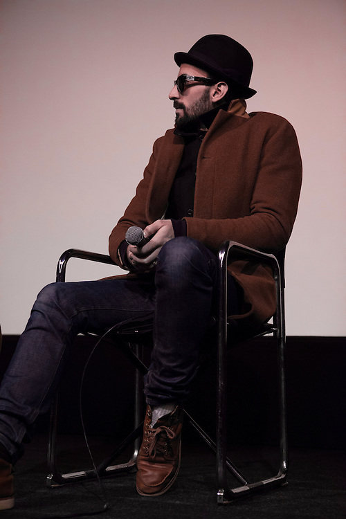 JR at the ICA for a Q&A about his collaboration for the latest iteration of The Wrinkles of the City project.
