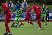 Forest Green Rovers Jordan Morris plays the ball forward during the Pre-Season Friendly match between Worthing FC and Forest Green Rovers at Woodside Road, Worthing, Uni on 1 August 2017. Photo by Shane Healey.