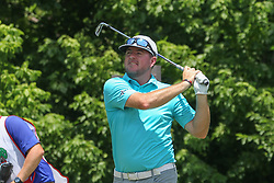 May 25, 2018 - Fort Worth, TX, U.S. - FORT WORTH, TX - MAY 25: Robert Garrigus (USA) hits from the 8th tee during the second round of the Fort Worth Invitational on May 25, 2018 at Colonial Country Club in Fort Worth, TX. (Photo by George Walker/Icon Sportswire) (Credit Image: © George Walker/Icon SMI via ZUMA Press)