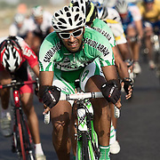 Saudi Cycle team member during a road race in Dubai
