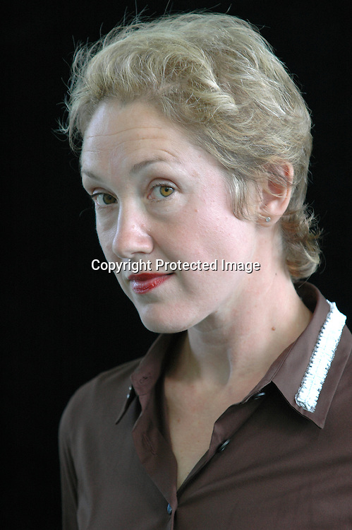British writer and journalist Justine Picardie, author of novels such as &quot;My Mother's Wedding Dress&quot; and &quot;Wish I May&quot; at the Edinburgh International Book Festival 2005.<br /> <br /> Copyright Pascal Saez<br /> Pascal Saez / Writer Pictures