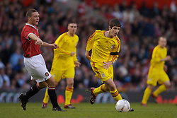 Manchester, England - Thursday, April 26, 2007: Liverpool's Ryan Flynn in action against Manchester United during the FA Youth Cup Final 2nd Leg at Old Trafford. (Pic by David Rawcliffe/Propaganda)