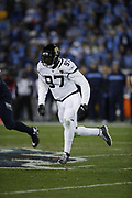 Jacksonville Jaguars defensive tackle Malik Jackson (97) in action during the week 14 regular season NFL football game against the Tennessee Titans on Thursday, Dec. 6, 2018 in Nashville, Tenn. The Titans won the game 30-9. (©Paul Anthony Spinelli)