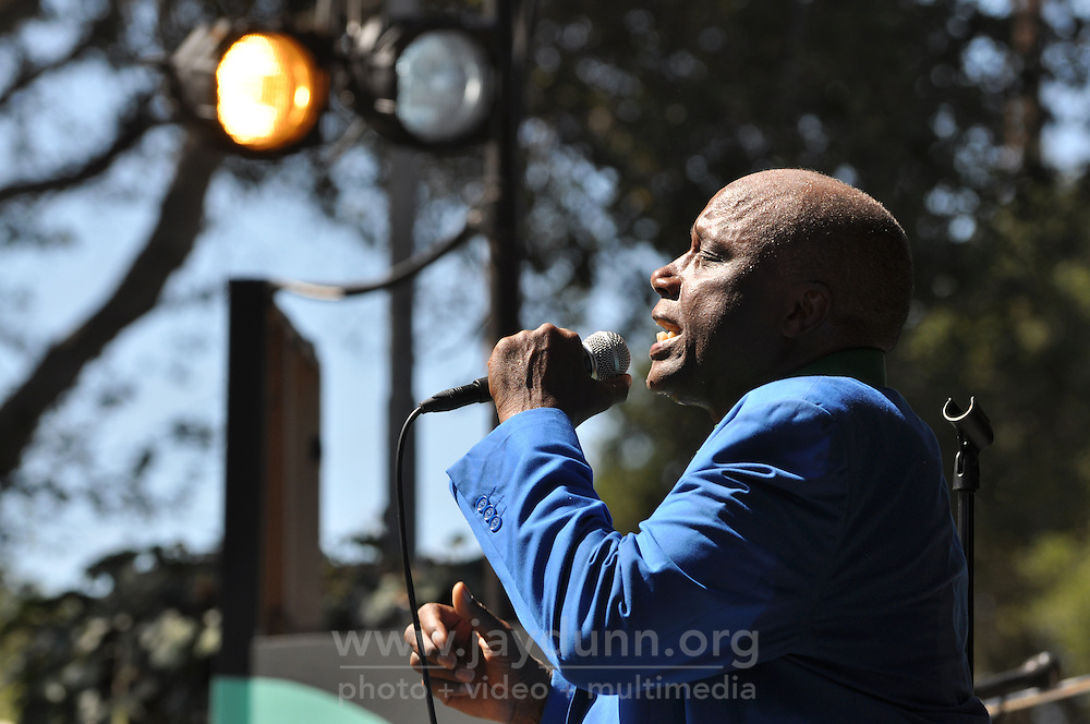 Sonny Knight and the Lakers in performance on Saturday afternoon. Despite soaring daytime temperatures, music fans flocked to the 58th annual Monterey Jazz Festival.