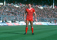 Graeme Souness, Liverpool and Scotland, taken during 1983 Milk Cup Final against Manchester United at Wembley, London, UK. Liverpool won 2-1. 19830326GS1..Copyright Image from Victor Patterson, 54 Dorchester Park, Belfast, United Kingdom, UK...For my Terms and Conditions of Use go to http://www.victorpatterson.com/Victor_Patterson/Terms_%26_Conditions.html