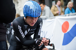 Linda Villumsen catches her breath after the UCI Road World Championships Elite Women's Individual Time Trial 2017 a 21.1 km time trial in Bergen, Norway on September 19, 2017. (Photo by Sean Robinson/Velofocus)