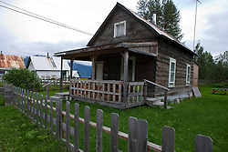 Log house, historic downtown Hope, Alaska, United States of America