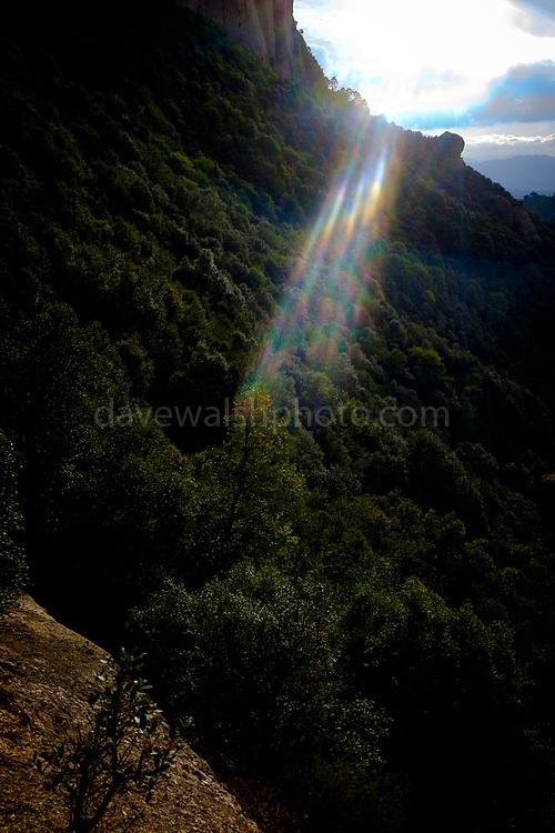 La Roca Foradada, Las Agulles, Montserrat, mountain, Catalonia