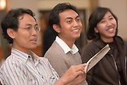 18496Sponsored International Students Reception: Nov 7th, 2007..Left to right:..Farid Muttaqin, Eka Sabeh and Merlita Putri
