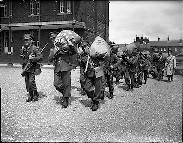Irish troops for the Congo at the Curragh..22.07.1960