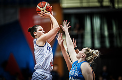 Cecilia Zandalasini of Italy vs Teja Gorsic of Slovenia during basketball match between Women National teams of Italy and Slovenia in Group phase of Women's Eurobasket 2019, on June 30, 2019 in Sports Center Cair, Nis, Serbia. Photo by Vid Ponikvar / Sportida
