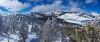 Panoramic view near Lake Tahoe.