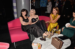 Left to right, DAISY LOWE, PORTIA FREEMAN and MILLIE MACKINTOSH at The Naked Heart Foundation's Fabulous Fund Fair hosted by Natalia Vodianova and Karlie Kloss at Old Billingsgate Market, 1 Old Billingsgate Walk, London on 20th February 2016.