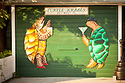 Turtle Kraals bar & restaurant and wall mural Key West, Florida.