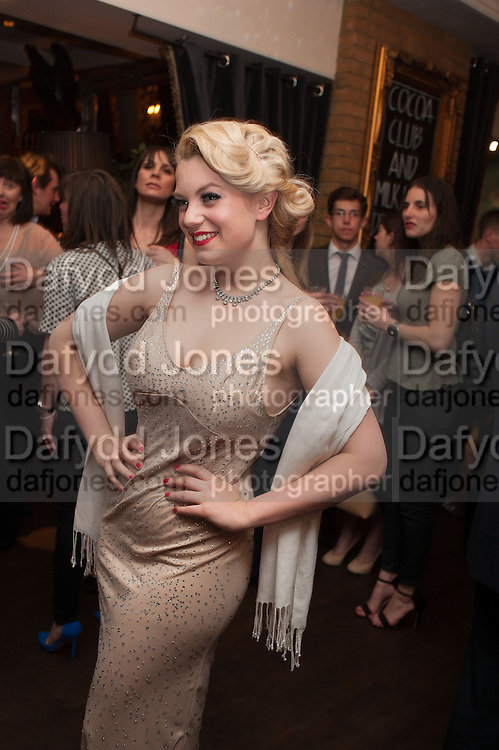 JOANNA WOODWARD, The press night performance of the Menier Chocolate Factory's 'Merrily We Roll Along', following its transfer to the Harold Pinter Theatre, After-show party at Grace Restaurant, Gt. Windmill St. London. 1 May 2013.