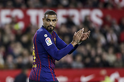 January 23, 2019 - Seville, Spain - KEVIN-PRICE BOATENG of Barcelona in action during the King's Cup quarter-final first leg soccer match between Sevilla FC and FC Barcelona at Sanchez Pizjuan Stadium (Credit Image: © Daniel Gonzalez Acuna/ZUMA Wire)
