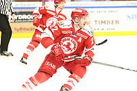2018-11-21 | Ljungby, Sweden: Troja-Ljungby (22) Carl-Johan Sjögren during the game between Troja Ljungby and Hanhals Kings at Ljungby Arena ( Photo by: Fredrik Sten | Swe Press Photo )<br /> <br /> Keywords: Icehockey, Ljungby, HockeyEttan, Troja Ljungby, Hanhals Kings, Ljungby Arena