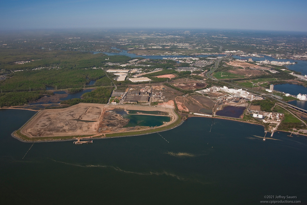 Maryland Port Administration Cox Creek Property Aerial photo at Key Bridge