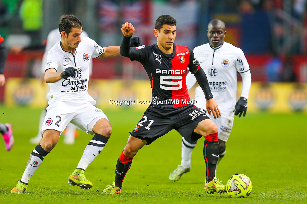 Benjamin ANDRE / Nicolas SEUBE  - 25.01.2015 - Rennes / Caen  - 22eme journee de Ligue1<br /> Photo : Vincent Michel / Icon Sport *** Local Caption ***