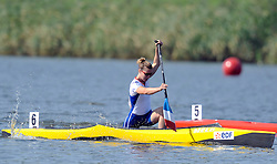 SOPHIE CORDELIER (FRANCE) COMPETES IN WOMEN'S C1 200 METERS QUALIFICATION RACE DURING 2010 ICF KAYAK SPRINT WORLD CHAMPIONSHIPS ON MALTA LAKE IN POZNAN, POLAND...POLAND , POZNAN , AUGUST 21, 2010..( PHOTO BY ADAM NURKIEWICZ / MEDIASPORT ).