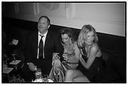 Harvey Weinstein, Caroline Gruosi-Scheufele and Eva Herzigova, Weinstein Bafta after-party in association with Chopard. Bungalow 8. London. 10 February 2008.