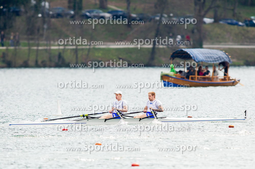 Jernej Markovc and Jan Spik compete during 54th Prvomajska Regatta Bled 2013, on April 21, 2013, at Lake Bled, Bled, Slovenia. (Photo By Vid Ponikvar / Sportida.com)