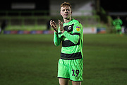 Forest Green Rovers Nathan McGinley(19) during the EFL Sky Bet League 2 match between Forest Green Rovers and Grimsby Town FC at the New Lawn, Forest Green, United Kingdom on 22 January 2019.