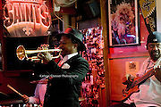 Kermit Ruffins performing at Bullet's Sport Bar at  2441 A P Tureaud Ave, New Orleans, LA 70119