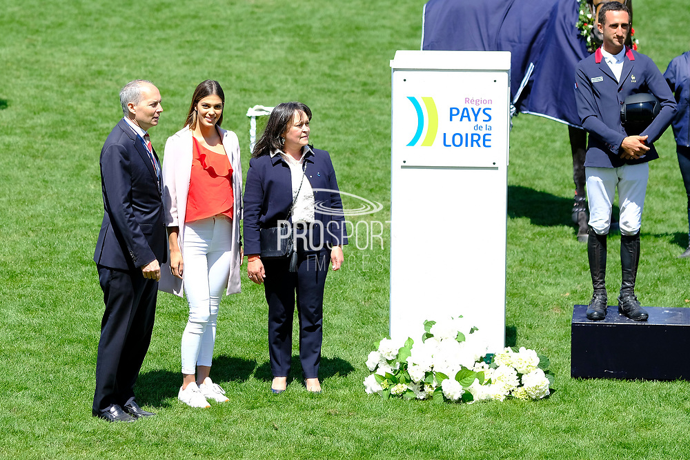 Miss Univers and France 2016 Iris Mittenaere during the Derby Region Pays de la Loire Competition of the International Show Jumping of La Baule 2018 (Jumping International de la Baule), on May 19, 2018 in La Baule, France - Photo Christophe Bricot / ProSportsImages / DPPI