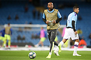 Manchester City midfielder Fernandinho (25) warming up during the Champions League match between Manchester City and Dinamo Zagreb at the Etihad Stadium, Manchester, England on 1 October 2019.