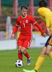 WREXHAM, WALES - Friday, September 6, 2019: Wales' Liam Cullen during the UEFA Under-21 Championship Italy 2019 Qualifying Group 9 match between Wales and Belgium at the Racecourse Ground. (Pic by Laura Malkin/Propaganda)
