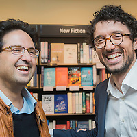 Brussels, Belgium 23 April 2015<br /> European Prize for Literature Pierre Mejlak launched the English translation of his short story collection &quot;Having Said Goodnight&quot; at Waterstones bookshop in Brussels.<br /> Photo: Ezequiel Scagnetti