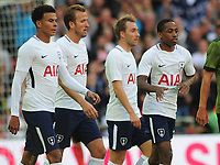 Football - 2017 / 2018 pre-season friendly - Tottenham Hotspur vs. Juventus<br /> <br /> New boy Kyle Walker - Peters (right) joins in the celebrations for Christian Eriksen's goal  for Tottenham at Wembley.<br /> <br /> COLORSPORT/ANDREW COWIE