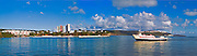 Fajardo, Puerto Rico Ferry returning from St Thomas VI, Panorama CGI Backgrounds, Beautiful Background
