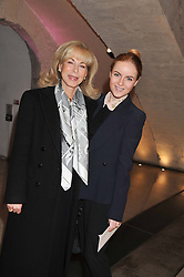 Left to right, ROSEMARY SAID (Mrs Wafic Said) and her daughter RASHA KHAWAJA at a private view of 'Valentino: Master Of Couture' at Somerset House, London on 28th November 2012.