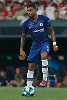 ISTANBUL, TURKEY - AUGUST 14: Emerson Palmieri of Chelsea in action during the UEFA Super Cup match between Liverpool and Chelsea at Vodafone Park on August 14, 2019 in Istanbul, Turkey. (Photo by MB Media/Getty Images)
