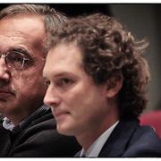 John Elkann, Presidente Fiat S.p.A.e Sergio Marchionne Amministratore Delegato di FIAT S.p.A. e Presidente e Amministratore Delegato di Chrysler Group LLC..Torino 24 settembre 2012 .