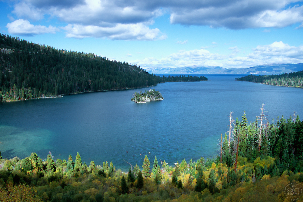 &quot;Emerald Bay in Autumn&quot;- Photographed facing northeast at Emerald Bay, in Lake Tahoe, CA.<br /> Photographed: October 2006