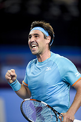 February 6, 2019 - Montpellier, France, FRANCE - joie de Marcos Baghdatis  (Credit Image: © Panoramic via ZUMA Press)