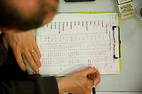 Scene from the Count centre at Leisureland, Salthill, Galway for the Galway West count. Photo:Andrew Downes