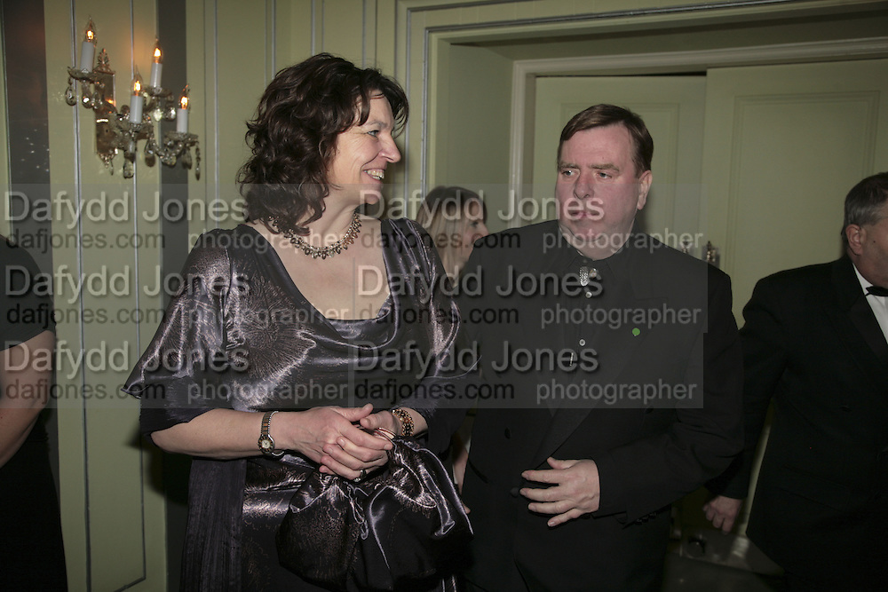 Shane and Timothy Spall, Cocktail party before the  27th Annual London Film Critics' Circle Awards. In aid of the NSPCC. Dorchester. 8 February 2007.  -DO NOT ARCHIVE-© Copyright Photograph by Dafydd Jones. 248 Clapham Rd. London SW9 0PZ. Tel 0207 820 0771. www.dafjones.com.