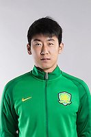 Portrait of Chinese soccer player Jiang Tao of Beijing Sinobo Guoan F.C. for the 2017 Chinese Football Association Super League, in Benahavis, Marbella, Spain, 18 February 2017.