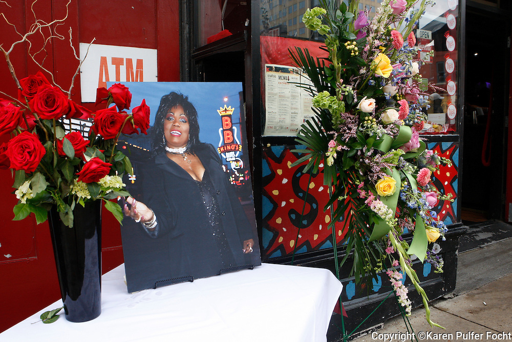 A New Orleans-style brass band funeral and procession for R&B singer Ruby Wilson was held on Beale Street in Memphis  Friday afternoon. The procession came to rest outside of B.B. King's Club where she often played. Tearful family and friends  gathered at the club. Wilson died last week after being hospitalized following a heart attack. She was 68